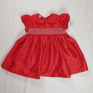 Edgehill Collection 18 Months Dress Red Smocked